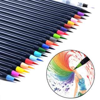 20 Colors Art Oil Watercolor Drawing Painting Brush Sketch Manga Pen Se