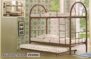 KATIL BESI DOUBLE DECKER BED WITH PULL OUT MODEL - PF8902