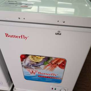 Butterfly Chest Freezer 108L with Sliding Glass