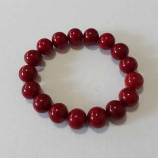 Very nice. AAA grade Red Coral bracelet. Size 11.5-12mm beads x 17 bead. For Sale at just SG$168
