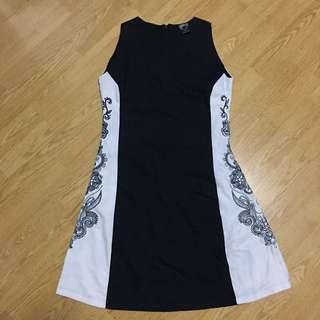 Black emroidered dress