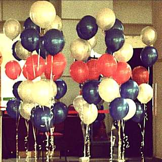 Cluster helium balloon special events decoration