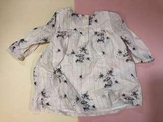 Gap 白色長袖短裙 3-6月