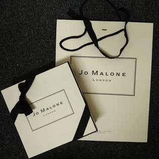 Authentic Jo Malone Box and Paperbag