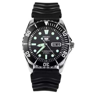Preorder Seiko 5 Sports (Japan Made) Automatic Men's Rubber Strap Watch SNZF17J2