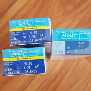 Contact lenses 1-day acuve moist