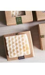 Handmade organic beeswax soap
