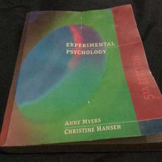 Experimental Psychology 5th Edition - Anne Myers & Christine Hansen