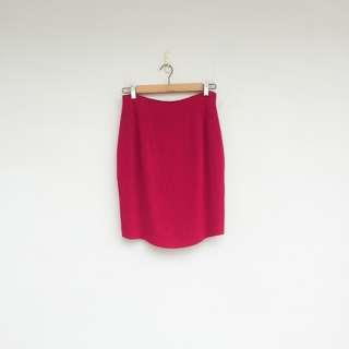 二手 桃紅色 高腰 微彈性 短裙 明太子 0322