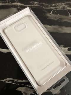 Samsung Galaxy A9 clear case with gold edges