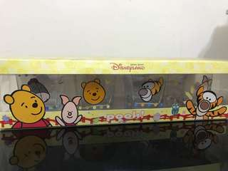 Winnie the Pooh and friends glass x4