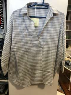 Plus Size Checkered Polo - BN with Tags