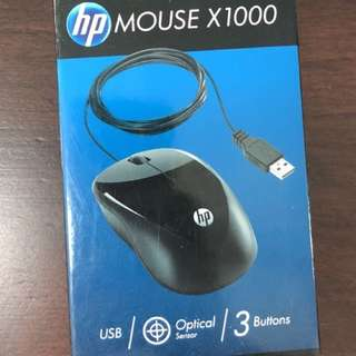 HP mouse X1000 USB / Optical / 3 buttons