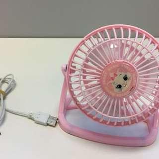 可愛粉紅色USB fan 風扇