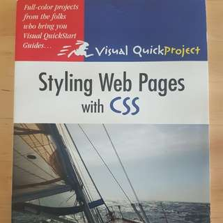 Book - Visual Quick Project: Styling Web Pages with CSS *in almost new condition*