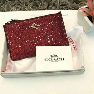 Coach Boxed Small Wrislet With Glitter Star Print (F22705)