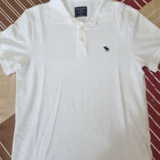 BN Abercrombie & Fitch White Polo