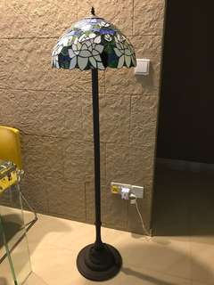 Vintage Stain Glass Floor Lamp