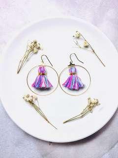Handmade Hybrid tassels earrings