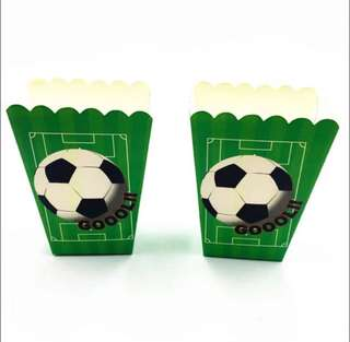 ⚽️ Football Soccer theme party supplies - popcorn boxes / candy bar deco