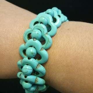 藍色手工手環