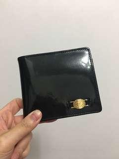 黑色漆皮多格錢包