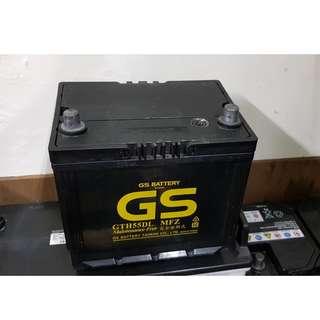 (二手中古電池) GS 55D23L-免保養汽車電池 數值漂亮,品項優