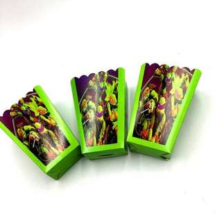 💥TMNT Party Supplies - popcorn boxes / candy bar deco