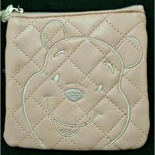 小熊維尼粉色零錢包附鏡子