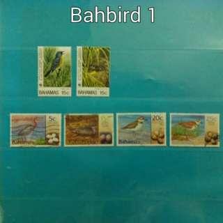 2001,1995 Bahamas stamps, birds