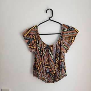 H&M aztec off shoulder