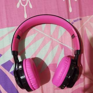 MACSON AB-005 WIRELESS HEADPHONE (LED MARQUEE) PINK
