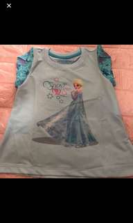 Instock Frozen t Shirt gd quality brand new size for 3-4yrs old
