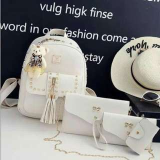 Womens Bag 4in1 with bear