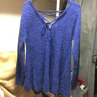 寶石藍💎針織性感毛衣💙