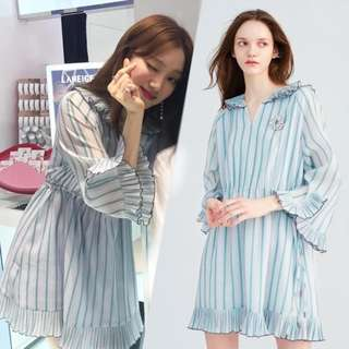 LEE SUNGKYUNG - STRIPED BLUE DRESS