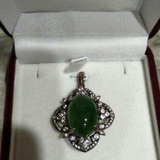 純銀綠寶石墜子