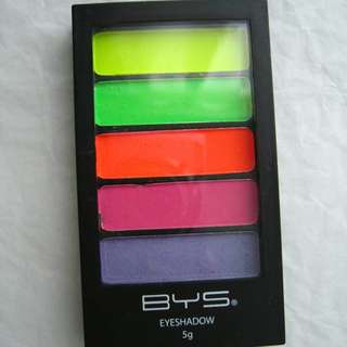 BYS neon eyeshadow