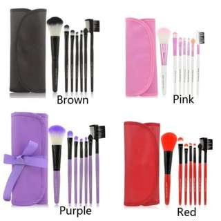 7PCS BRUSH SET WITH POUCH