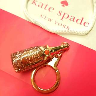"🎁 Mother's day gift - Authentic BN new Kate Spade Champagne Keychain - rose gold ""Toast of the Town"" - 2 available, with gift bag"