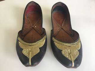 Womens Handmade Leather Gypsy Leather Flats 38
