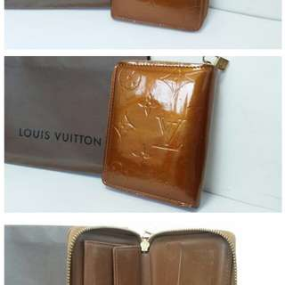 LOUIS VUITTON/LV 金色漆皮銀包/Wallet