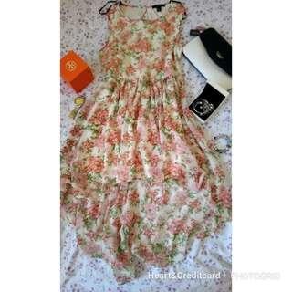 F21 Floral Long Back Dress
