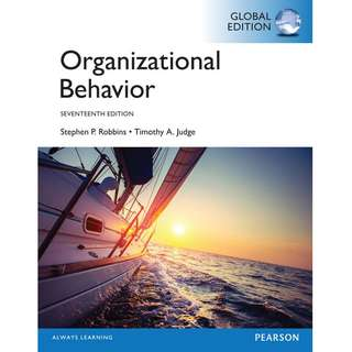 Organizational Behavior Global 17th Seventeen Edition by Stephen P. Robbins, Timothy A. Judge - Pearson