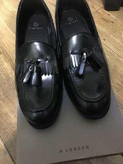 H London真皮休閑鞋 平底鞋