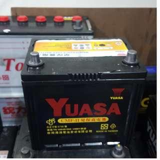 (二手中古電池) YUASA 55D23R-免保養汽車電池 數值漂亮,品項優