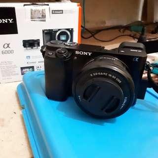Camera mirrorless sony a6000 black