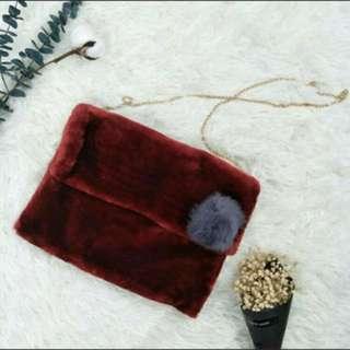 秋冬季酒紅信封包