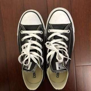 Converse All Star 黑色 荔枝皮