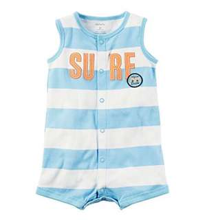 *18M* Brand New Carter's Snap Up Cotton Romper For Baby Boy